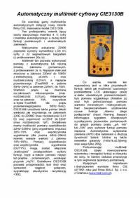 Automatyczny multimetr cyfrowy CIE3130B
