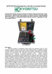 KEW3128 Wysokonapieciowy miernik rezystancji izolacji