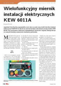 Wielofunkcyjny miernik instalacji elektrycznych KEW 6011A