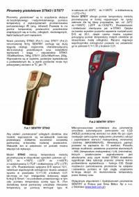 Pirometry pistoletowe ST643 i ST677