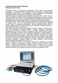 ELSPEC BLACKBOX G4500 PORTABLE Analizator jakosci energii