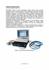 ELSPEC BLACKBOX G4000 Analizator jakosci energii kl. A